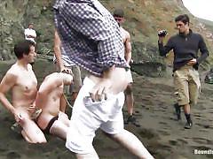 bdsm, outdoor, public sex, blindfolded, gays, anal sex, gay blowjob, rope bondage, sea side, bound in public, kink men, mike martin, micah andrews