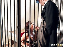 big tits, babe, prison, pornstar, blowjob, brunette, big dick, sexy lingerie, on the table, porn stars like it big, brazzers network, anna polina, danny d