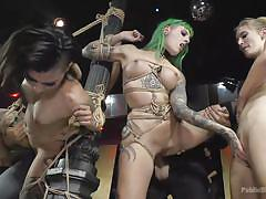 Horny sluts get fucked and humiliated