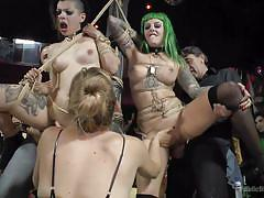 tattoo, bdsm, from behind, disgrace, public humiliation, busty babes, rope bondage, punk girls, standing sex, public disgrace, kink, mona wales, steve holmes, lola xxxxx, xavi tralla, satrina