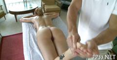 The massage almost always leads to a hot fuck