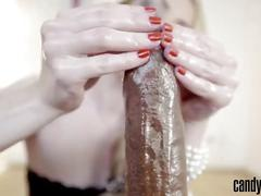 Candy may - bbc handjob with pearls (clip pleasure pearls)