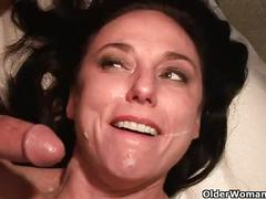 anal, cumshot, facial, milf, mature, fishnet, mom, granny, mommy, mother, cougar, gilf, anal-sex, karen-kougar