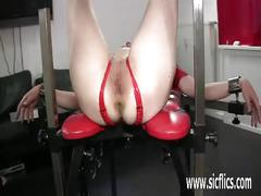 Extreme slut brutally fisted in bondage