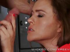 Wicked - krissy lynn takes a big load in the locker room