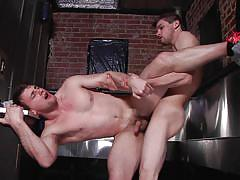 cumshot, blowjob, naked, gays, from behind, gay deepthroat, gay anal sex, str8 to gay, men, johnny rapid, scott harbor