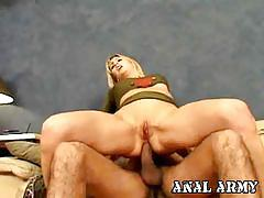 Busty celestia star ass drilled in army uniform