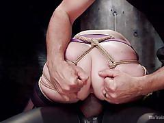 hairy, big ass, vibrator, training, cock riding, redhead babe, executor, rope bondage, the training of o, kink, mickey mod, amarna miller