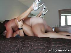 Busty wife fucking hard
