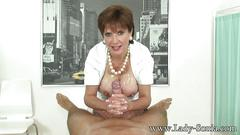 Lady sonia - big cock, big tits, handjob and hot cum!
