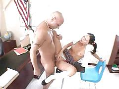 Sweet schoolgirl jessica is fucking on the table