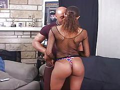 Lovely america gets her big butt pounded