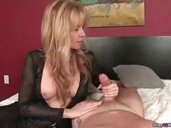 Ov-naughty milf with big tits handjob