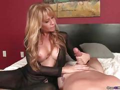 Ov-naughty milf with big tits handjob