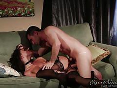 Horny brunette gets rammed in the ass @ the swinger #06