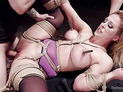 Busty milf tortured and fucked
