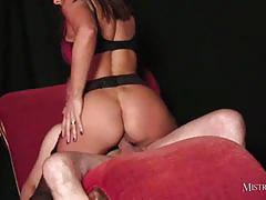 Mistress carly riding horny dude