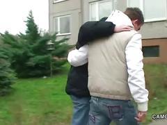German young boy talk 43yr milf on street to fuck him