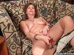 Mom's nipples and clit need attention after a hard days work