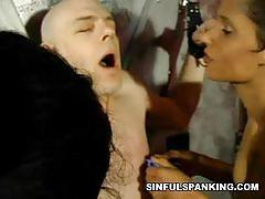 Pathetic daddy slave gets tortured