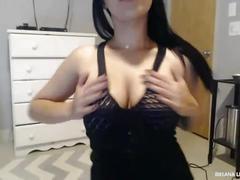 big, tits, girl, natural, amateur, masturbation, solo, webcam, lee, all, briana, vip