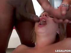 3 on 1 first dap, 0%pussy, angel black tremendous double anal, cu games and spearm swallow gio044