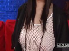 Japanese azusa nagasawa fishnet dress english subtitled interview