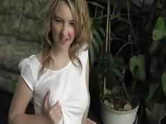 Dirty talking blonde katie makes you jerk it