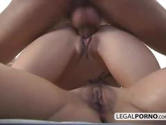 Big cock surprises two hot brunettes playing with toys and fucks them nl-7-01
