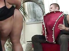 Big fat bitch drilled hard on her big twat
