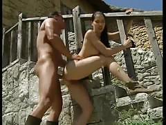 Brunette babe rita faltoyano outdoor fuck fun!