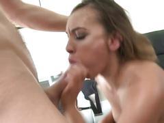 Brunette anal creampie