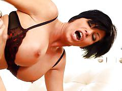 Hot and busty shay fox gets a load on her face