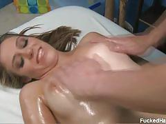 Kara finley massage oil all over her tits and cunt