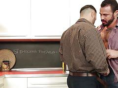 tattoo, kissing, undressing, gay blowjob, gay, in kitchen, drill my hole, men, flex, jessy ares