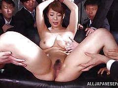 Attractive yuuka entertaining horny cocks