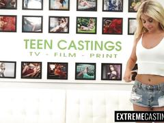 Sexy and dirty blonde teen madelyn monroe broken hard