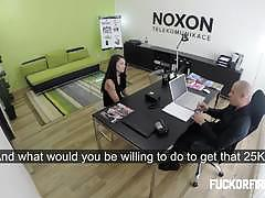 Hottie secretary barbora hired after fucking