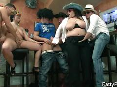 Hot plump group orgy