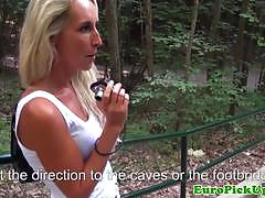 Hot blonde rides a hard cock pov style in the park