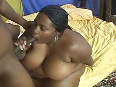 Obese black bitch drilled hard