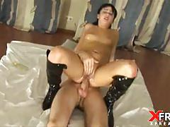 Oily anal for horny miki