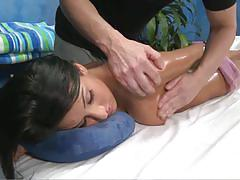 Cute brunette lexi gets her pussy massaged.