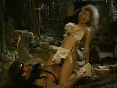 Barbarian fucks a hot blonde in a cave