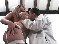 Horny nurse seduces a hunk doctor