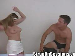 Candi apple fucking stud with strapon