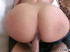 Two big asses and one huge dick on this threesome
