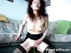 milf, masturbation, toys, solo, mom, bottle, cucumber, amateur, homemade, masturbating, striptease