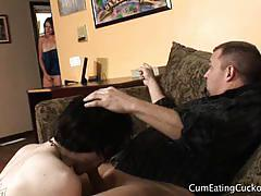 Allie haze forces cock on her husband