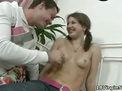 Young teen spreading her ass for her partner
